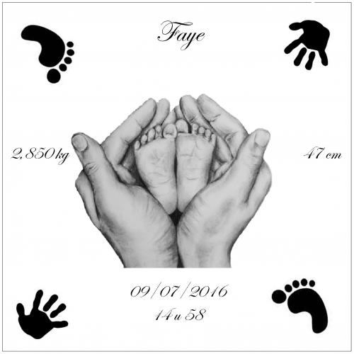 Geboorte voetjes in handen