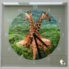 Vierkante klok giraffen