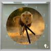 Vierkante klok lopende leeuw