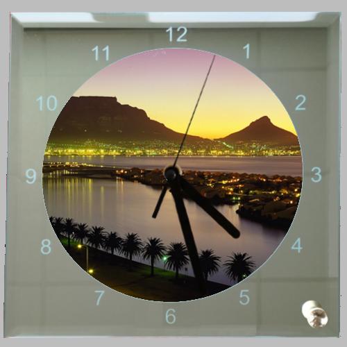 Vierkante klok zonsondergang afrika