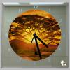 Vierkante klok zonsondergang zuid afrika